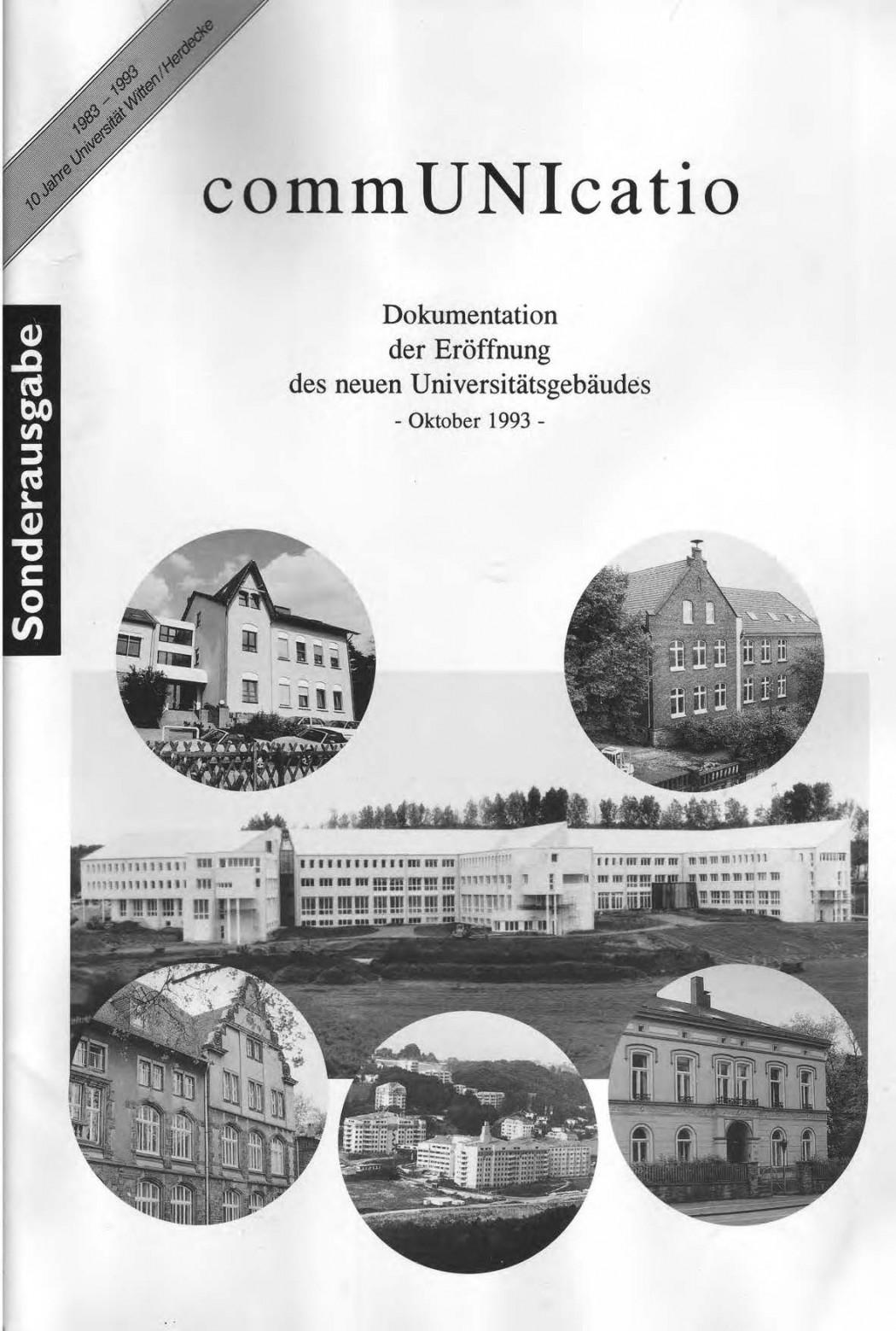 Universitaet Witten-Herdecke Dokumentation zur Eroeffnung_Seite_01