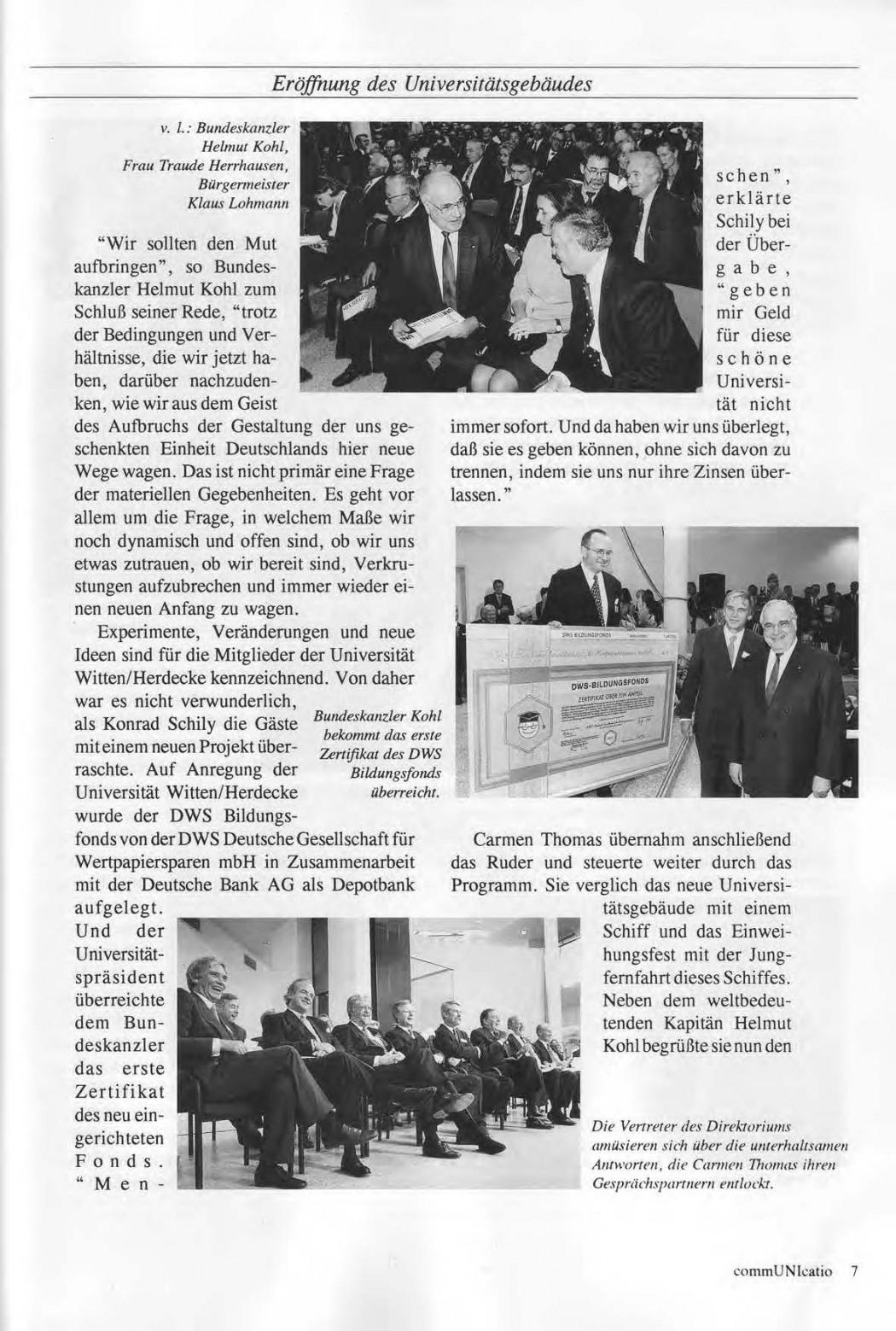 Universitaet Witten-Herdecke Dokumentation zur Eroeffnung_Seite_04
