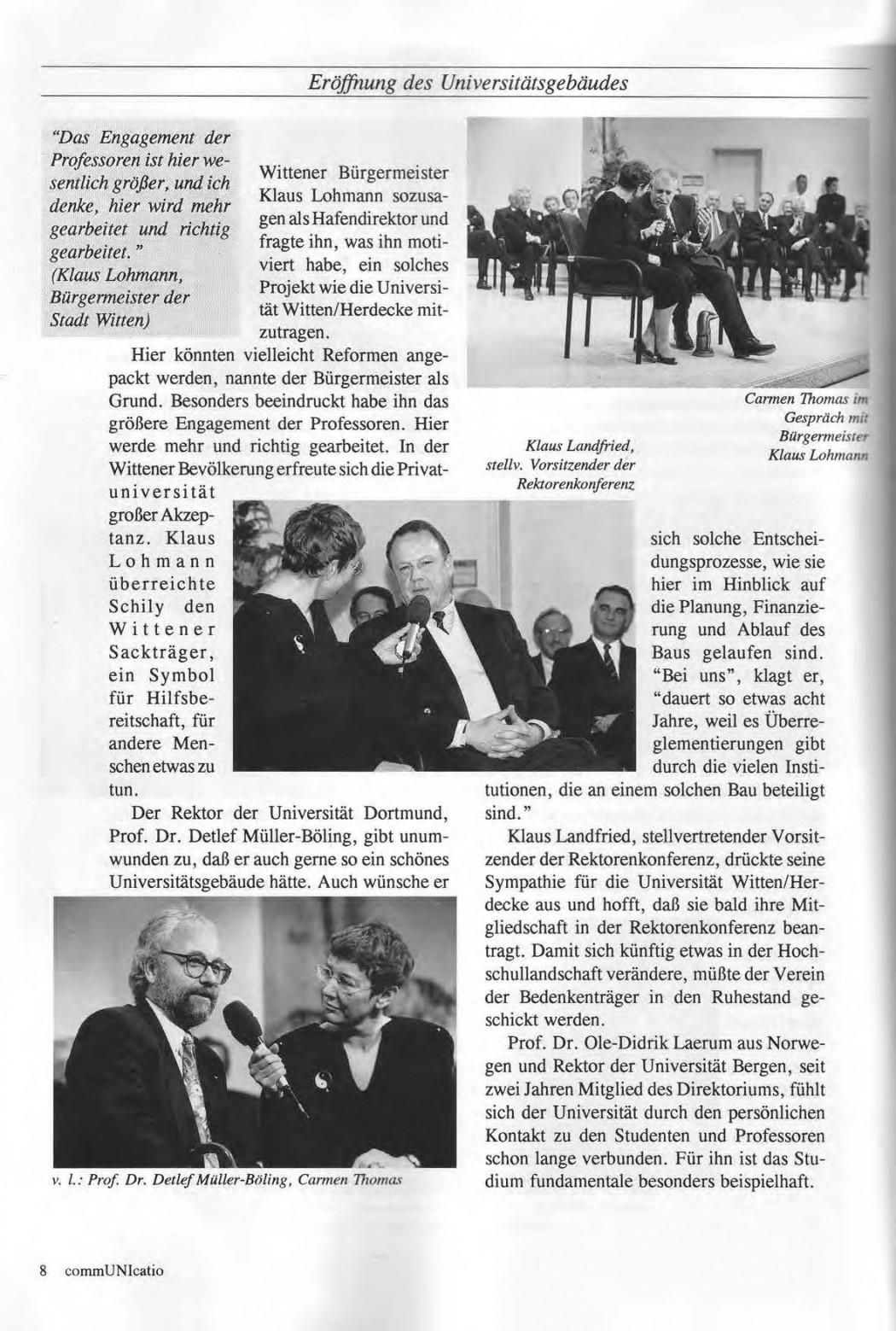 Universitaet Witten-Herdecke Dokumentation zur Eroeffnung_Seite_05