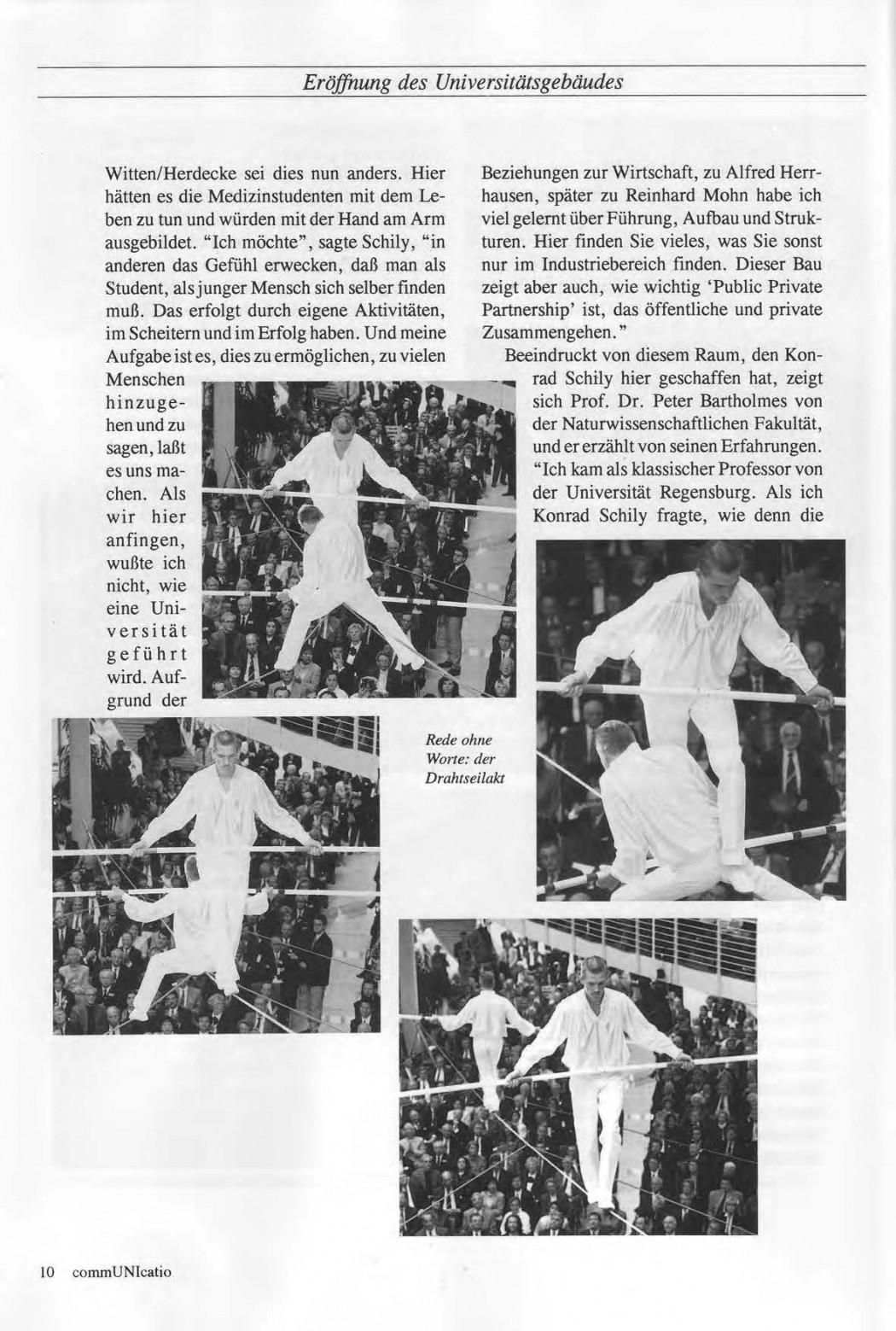 Universitaet Witten-Herdecke Dokumentation zur Eroeffnung_Seite_07