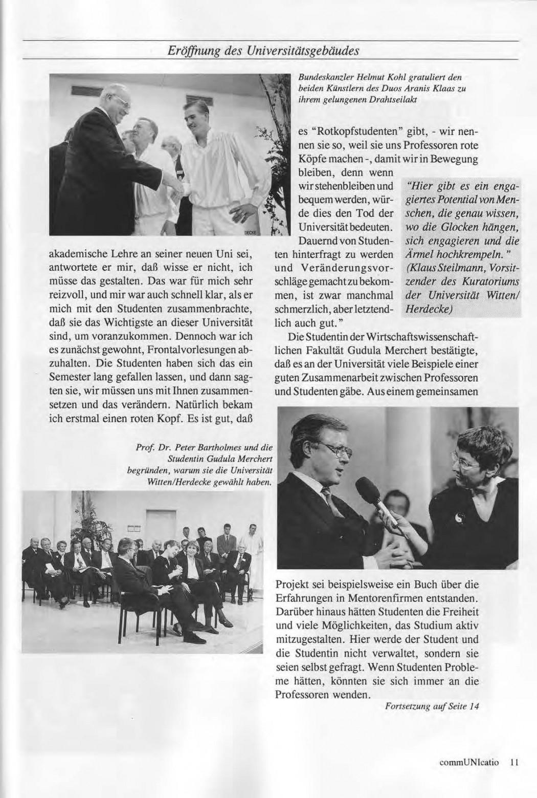 Universitaet Witten-Herdecke Dokumentation zur Eroeffnung_Seite_08