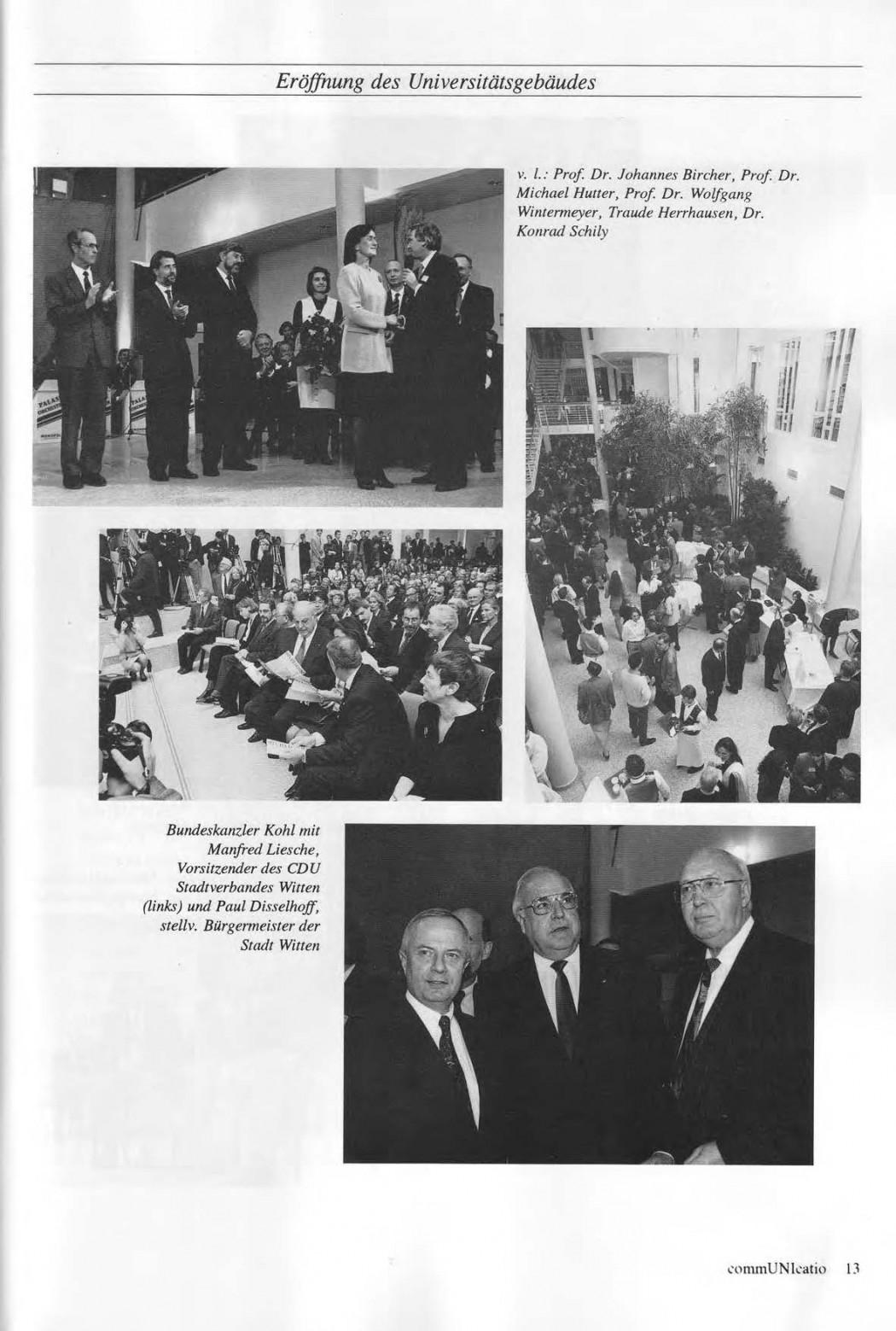 Universitaet Witten-Herdecke Dokumentation zur Eroeffnung_Seite_10