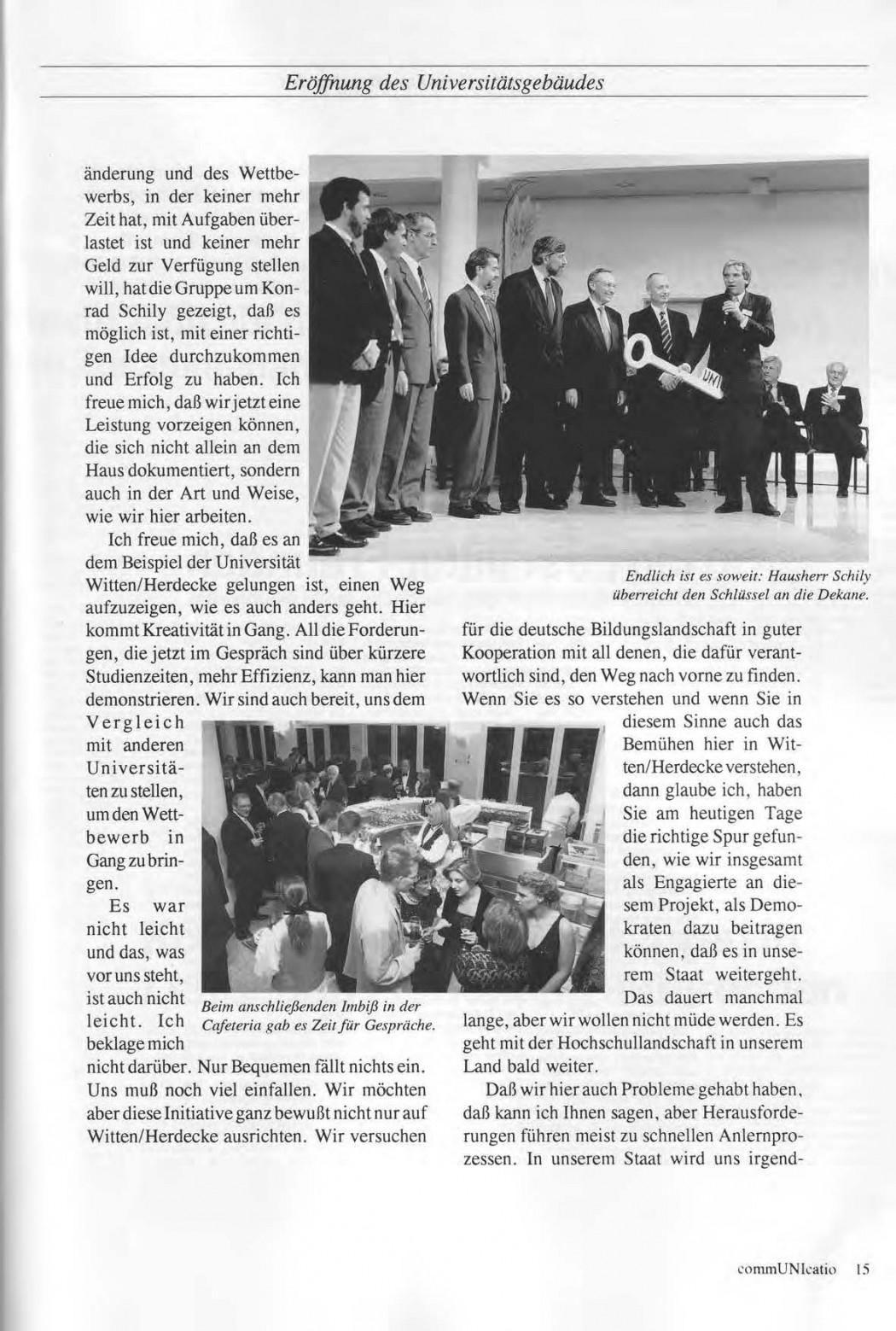 Universitaet Witten-Herdecke Dokumentation zur Eroeffnung_Seite_12