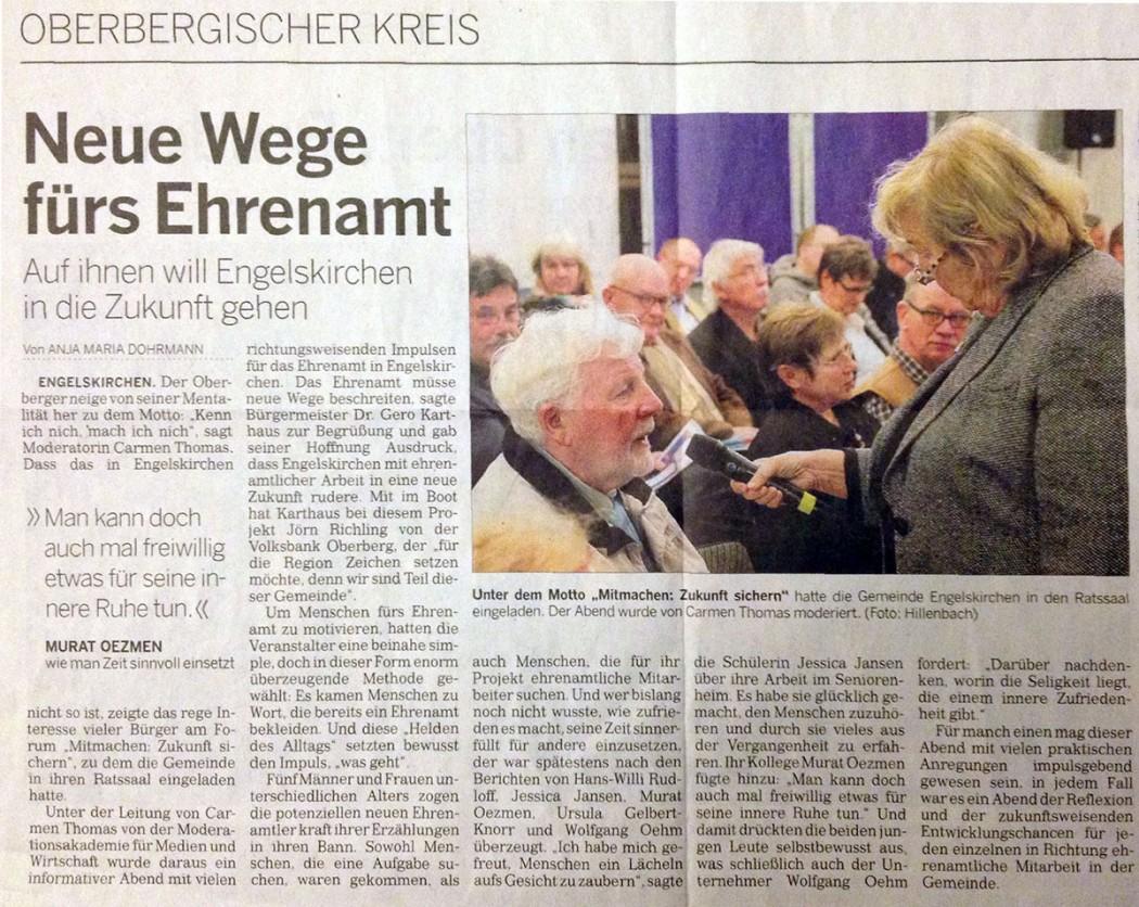Neue Wege fuers Ehrenamt
